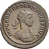 Lot 5974: Roman Imperial times. Probus, 276-282. Antoninianus, 276, Serdica. Extremely rare legend. Extremely fine. Estimate: 75 euros. Hammer price: 550 euros.