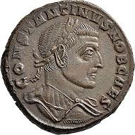 Lot 6142: Roman Imperial times. Maximianus I Herculius for Constantinus I. Follis, 306/307, Aquileia, 3rd off. Almost extremely fine. Estimate: 100 euros. Hammer price: 900 euros.
