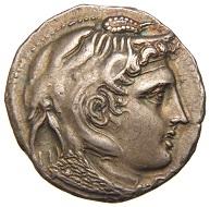 Alexander der Große, Ptolemaios I. von Ägypten, Tetradrachme, Alexandria, um 306/305 v. Chr., © Münzkabinett – Staatliche Museen zu Berlin.