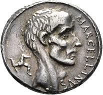 Gnaeus Cornelius Lentulus Marcellinus, Denar, Rom, 50 v. Chr., © Münzkabinett – Staatliche Museen zu Berlin.