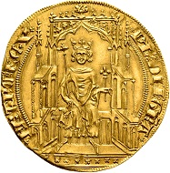 Philipp VI. von Frankreich, 2 Royal d'or, 1340, © Münzkabinett – Staatliche Museen zu Berlin.