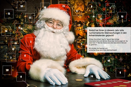 Sixbid's numismatic advent calendar.