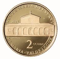 San Marino / 2 Scudi / Gold .900 / 6,451 g / 21 mm / Design: Antonella Napolione (Vorderseite) und Claudia Momoni (Rückseite) / Auflage: 600.