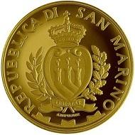 San Marino / 2 Scudi / Gold .900 / 6.451g / 21mm / Design: Antonella Napolione (obverse) and Claudia Momoni (reverse) / Mintage: 600.
