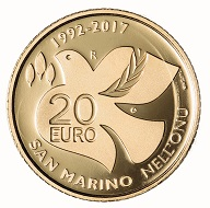 San Marino / 20 Euro / Gold .900 / 6,451 g / 21 mm / Design: Antonella Napolione (Vorderseite) und Andrew Lewis (Rückseite) / Auflage: 500.