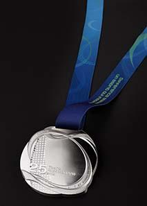 Rick Hansen Medal - sterling silver - 85 mm - 400 g.