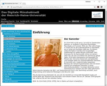 Screenshot der Ausstellung.