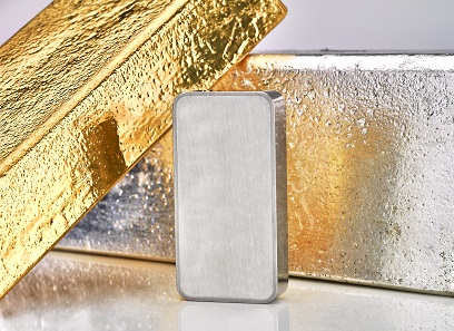 The Royal Mint Signature (TM) bars made of gold, platinum and silver.
