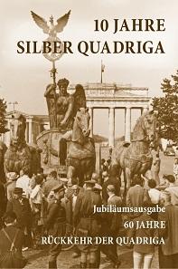 Klappkarte der Silber Quadriga 2018.