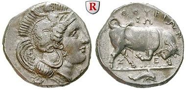 Lukanien, Thurium. Stater, 350-300 v. Chr. vz. 2.000 Euro.