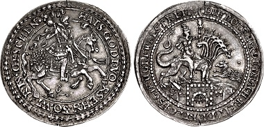 Lot 1056: Germany, Schaumburg-Pinneberg (Grafschaft). Ernst, 1601-1622. Halbtaler. Altona mint, struck 1618-1620. Good VF, toned. Ex Friedrich Popken Collection. Estimate: 20,000 USD.