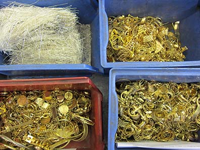 Gold and silver scrap. Photo: UK.