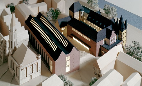 Model of the Historisches Museum Frankfurt from 2009.