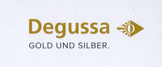 The corporate logo of Degussa-Goldhandel.
