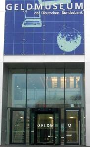 Außeneingang des Geldmuseums der Deutschen Bundesbank.