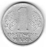 DDR. 1 Deutsche Mark 1956. Foto: Angela Graff.