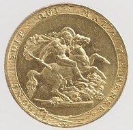 Reverse of the 1817 Sovereign.