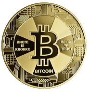 Bitcoin / Legierung Nordic Gold / 16 g / 35 mm.