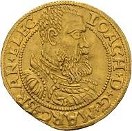 Joachim II. Dukat 1560, Berlin. Einziges bekanntes Stück in Privatbesitz. Fast vorzüglich. Taxe: 60.000 Euro. Aus Auktion Künker 300 (2018), Nr. 8.