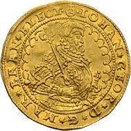 Johann Georg. Dukat 1590, Berlin. Äußerst selten. Vorzüglich. Taxe: 25.000 Euro. Aus Auktion Künker 300 (2018), Nr. 12.