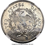 1795 $1 Draped Bust, Off-Center, B-14, BB-51, R.2, SP62 NGC. From The Twelve Oaks Collection, Part IV.