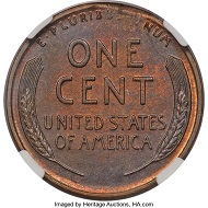 1943 CENT Struck on a Bronze Planchet MS61 Brown NGC.
