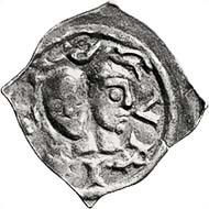 Fig. 6: ZURICH. Fraumünster abbey. Abbess Judenta of Hagenbuch, 1229-1254. Penny. Cahn-Wüthrich 203var. Sale 88 Leu Numismatics (2003), lot 1730. Estimate: 600 CHF. Hammer price: 1.000 CHF.