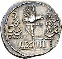 87 - Galba Collection. Clodius Macer, propraetor in Africa under Nero. Denarius, North Africa (Carthage?). Less than 10 specimens known to exist. From the Hunt Collection. Extremely fine. Estimate: CHF 25,000. Hammer price: CHF 42,000.