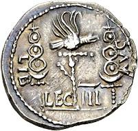 87 - Galba Collection. Clodius Macer, Proprätor in Afrika unter Nero. Denar, Nordafrika (Karthago?). Weniger als 10 Exemplare bekannt. Aus Hunt Collection. Vorzüglich. Schätzung: 25.000 CHF. Zuschlag: 42.000 CHF.