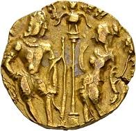 263 - Gupta in Indien. Skandragupta, 455-467. Golddinar. Sehr schön. Schätzung: 1.000 CHF. Zuschlag: 10.500 CHF.