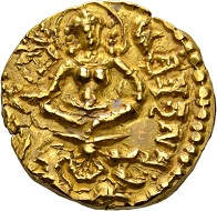 263 - Gupta in India. Skandagupta, 455-467. Gold dinar. Very fine. Estimate: CHF 1,000. Hammer price: CHF 10,500.