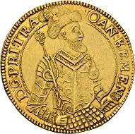 579 - Transsylvanien. Johann Kemeny, 1661-1662. 10 Dukaten 1661, Klausenburg. Nur zwei Exemplare bekannt auf dem Markt. Vorzüglich. Schätzung: 100.000 CHF. Zuschlag: 170.000 CHF.