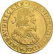 584 - Holy Roman Empire. Ferdinand III, 1625-1637-1657. 10 ducats 1645, Vienna. Very rare. Extremely fine. Estimate: CHF 50,000. Hammer price: CHF 100,000.