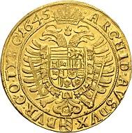 584 - RDR. Ferdinand III., 1625-1637-1657. 10 Dukaten 1645, Wien. Sehr selten. Vorzüglich. Taxe: 50.000 CHF. Zuschlag: 100.000 CHF.