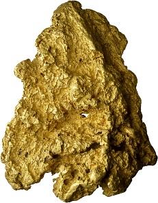 723 - Goldnugget aus Westaustralien von großer Feinheit. 3.787 g Gold. Mit Zertifikat der Universität Bern. Taxe: 200.000 CHF. Zuschlag: 260.000 CHF.