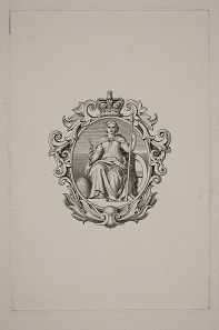 The vignette of Britannia which appeared on the Bank of England's notes between 1855 and 1956 was designed by the artist Daniel Maclise a close friend of Charles Dickens. Maclise made portraits of Dickens and his wife and children, as well illustrating some of his stories. Photos: Bank of England Museum.