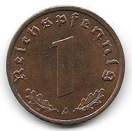 1 Reichspfennig 1938. Foto: Angela und Reiner Graff.