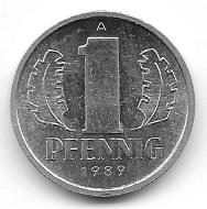 1 Pfennig DDR 1989. Foto: Angela und Reiner Graff.