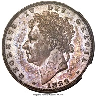 This and other 10 coins from an 11-piece 1826 George IV Proof Set set a $282,000 world record.