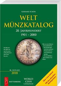Gerhard Schön, Weltmünzkatalog 20. Jahrhundert 1901-2000. Gietl Verlag 2017/18. 46 Auflage. 2240 Seiten mit zahlreichen schwarz-weiß Abbildungen, 17 x 24 cm. Paperback. ISBN: 978-3-86646-152-9. 65,00 Euro
