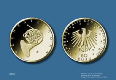 """Die Münze """"Orchesterhorn"""" erscheint 2020. Quelle: BVA."""