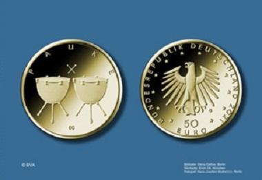 """Die Münze """"Pauke"""" erscheint 2021. Quelle: BVA."""
