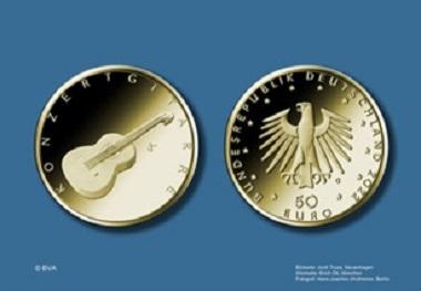 """Die Münze """"Konzertgitarre"""" erscheint 2022. Quelle: BVA."""