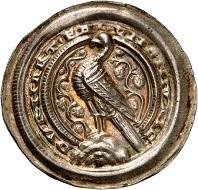 No. 545: Ermsleben. Burkhard II, 1142-1174. Bracteate. Very rare. Extremely fine to FDC. Estimate: 20,000,- euros.