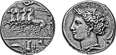 Nr. 2044: Sizilien. Syrakus. Dekadrachme. 405-395 v.Chr. Taxe Euro 12.500,-