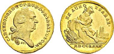 No. 3155: Electorate Bavaria. Karl Theodor. 1777-1799. Isargold ducat 1780. Estimated 5,500,- euros.