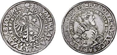 Nr. 3503: Reichsstadt Kaufbeuren. 1 1/2facher Taler 1547. Taxe Euro 15.000,-.