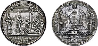 No. 4172: Judaica. Prague. Great Medal 1745 on the protest against the expulsion of the Jewish community. Estimated 22,000,- euros.