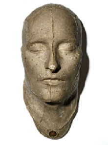Napoleon death mask, made by Francois Carlo Antommarchi, 183.
