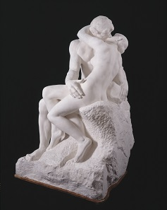 Auguste Rodin (1840-1917), The Kiss, large version, after 1898, Plaster, cast from first marble version, of 1888–98 © Musée Rodin.